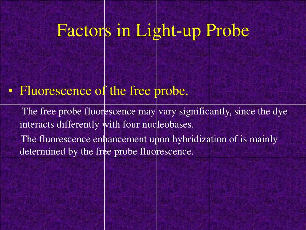 Factors in Light-up Probe