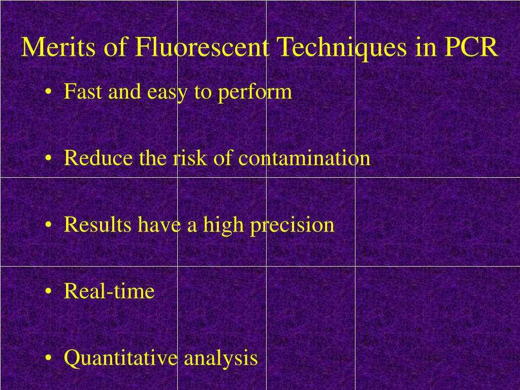 Merits of Fluorescent Techniques in PCR