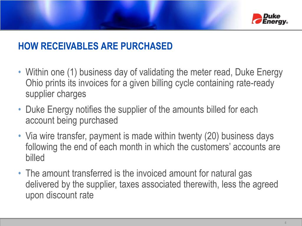 HOW RECEIVABLES ARE PURCHASED