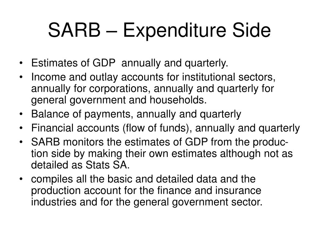 SARB – Expenditure Side