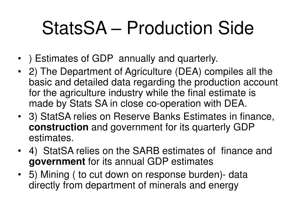 StatsSA – Production Side