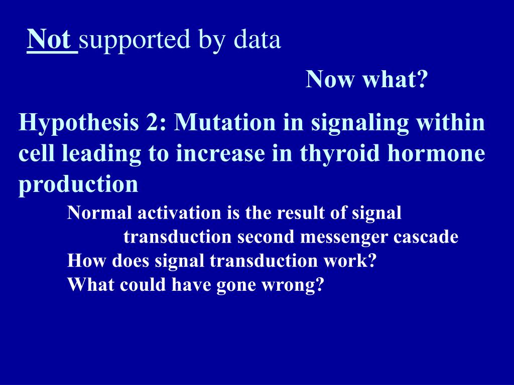 Hypothesis 2: Mutation in signaling within