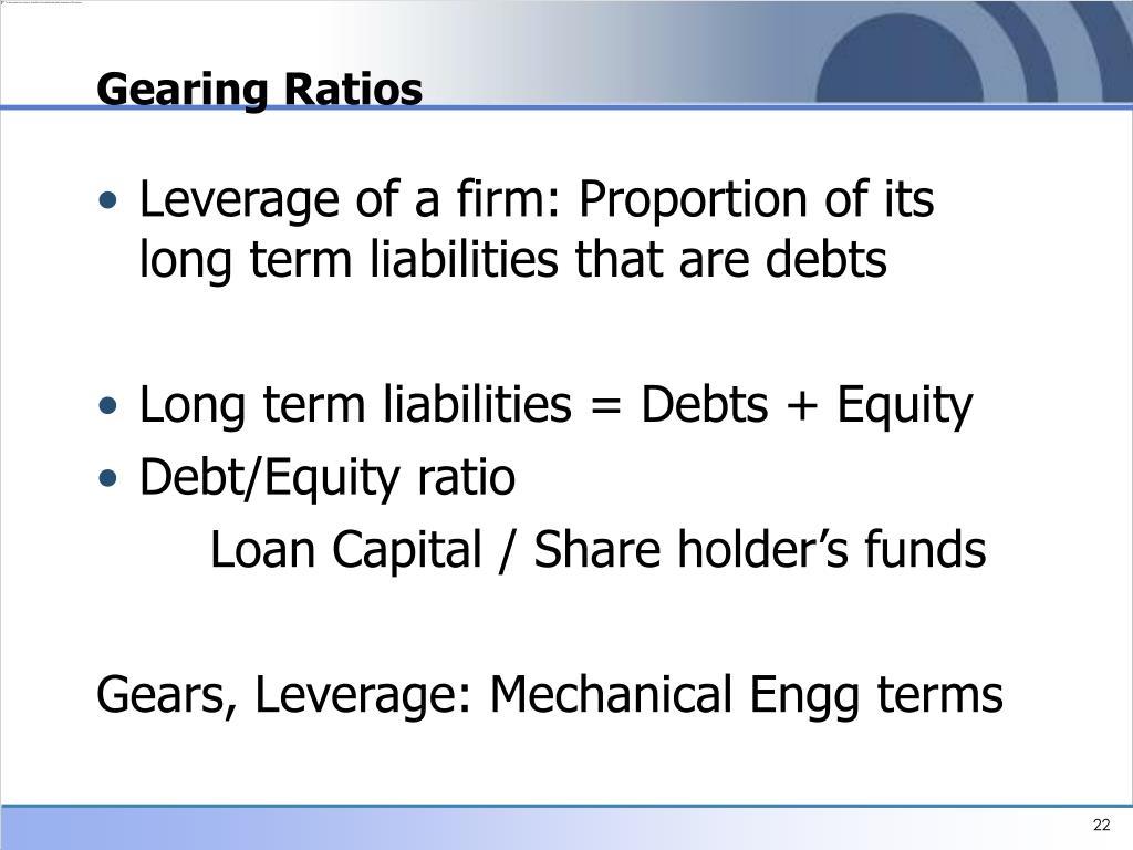 Gearing Ratios