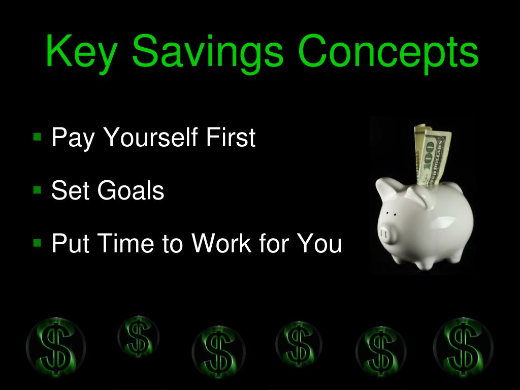 Key Savings Concepts