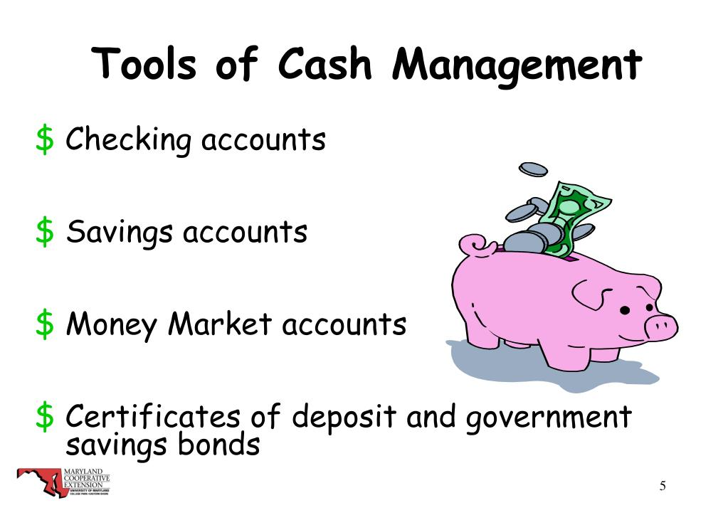 Tools of Cash Management