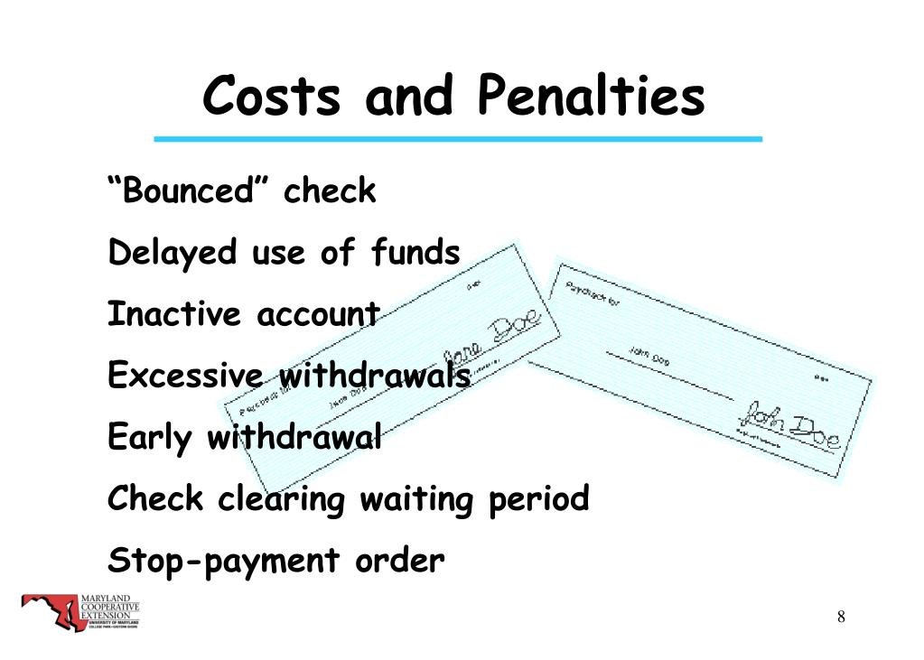 Costs and Penalties