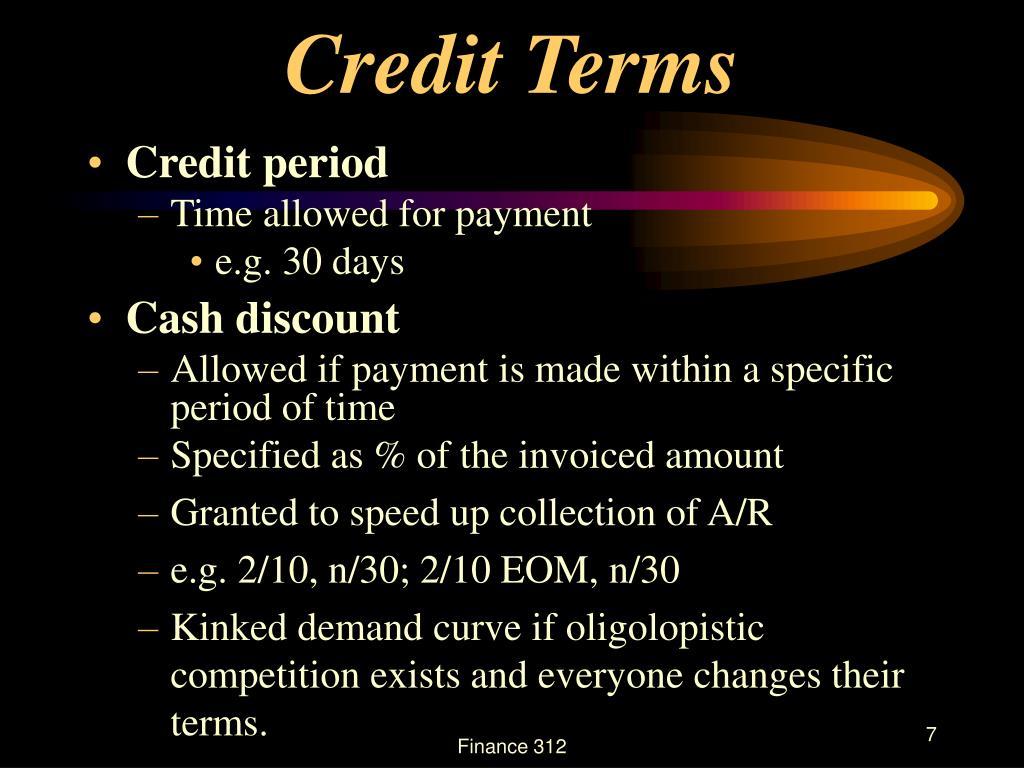 Credit Terms