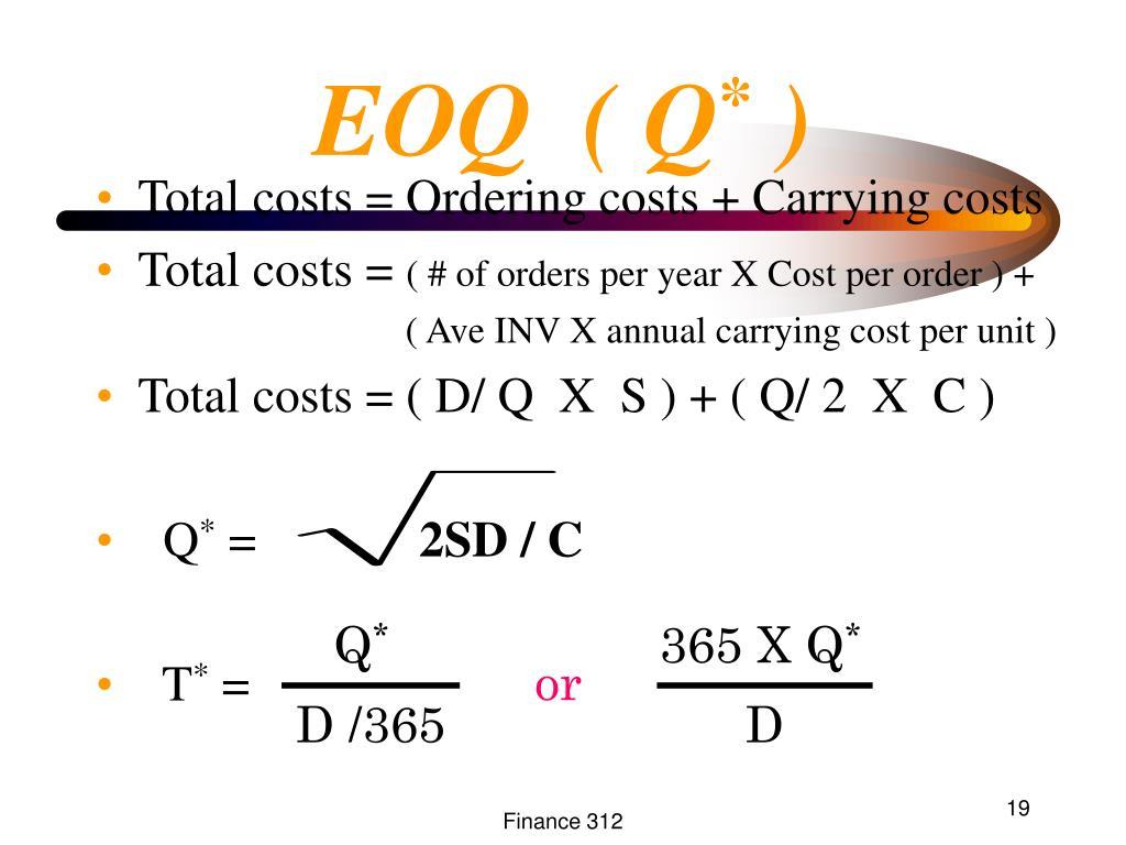 EOQ  ( Q