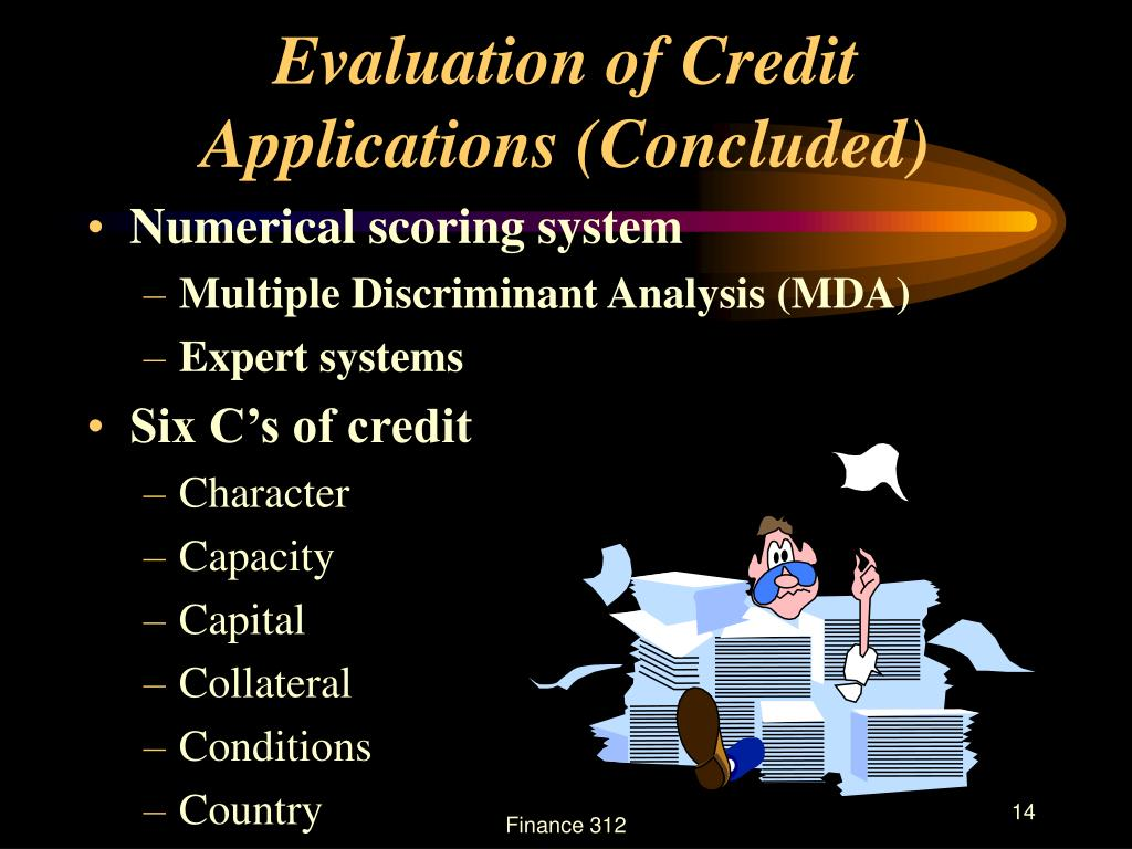 Evaluation of Credit Applications (Concluded)