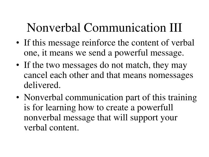 Nonverbal communication iii l.jpg