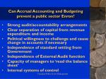 can accrual accounting and budgeting prevent a public sector enron38