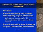 is accrual the be all of public sector financial management