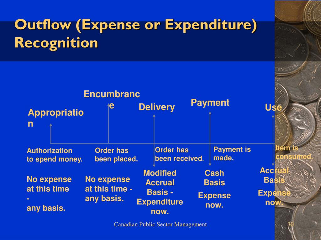 Outflow (Expense or Expenditure) Recognition