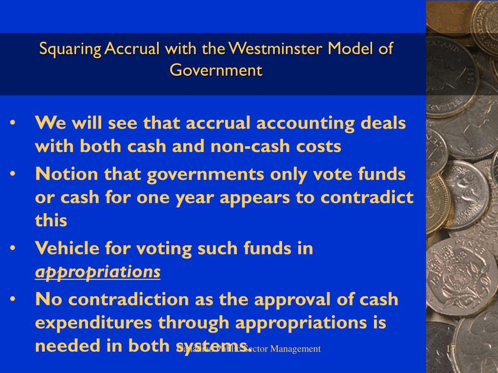 Squaring Accrual with the Westminster Model of Government
