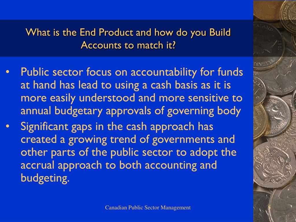 What is the End Product and how do you Build Accounts to match it?