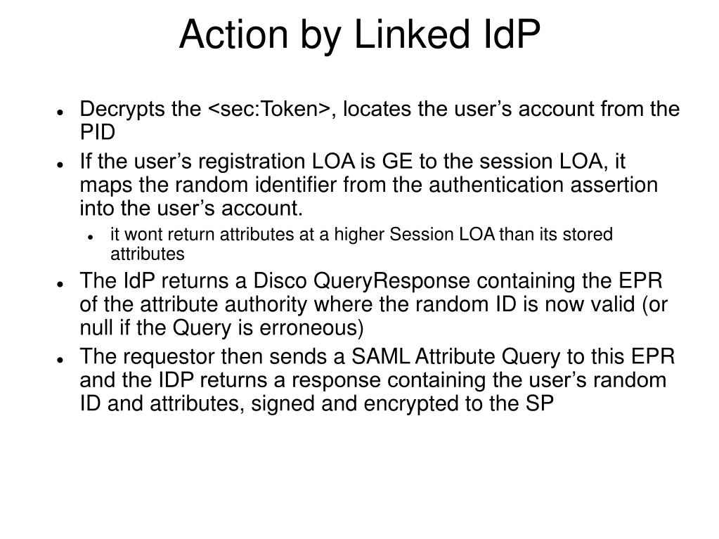 Action by Linked IdP