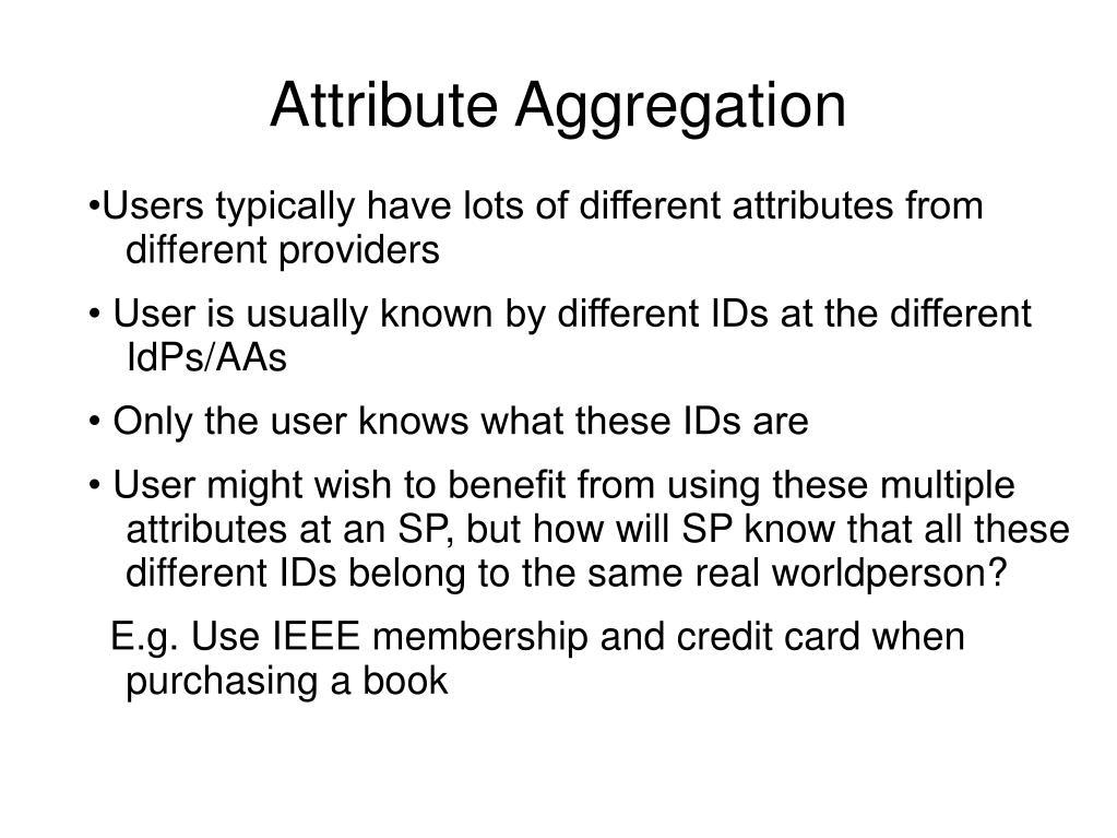 Attribute Aggregation