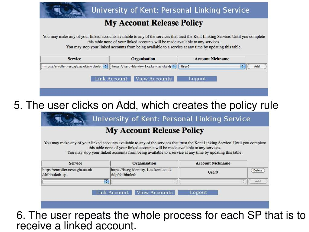 5. The user clicks on Add, which creates the policy rule