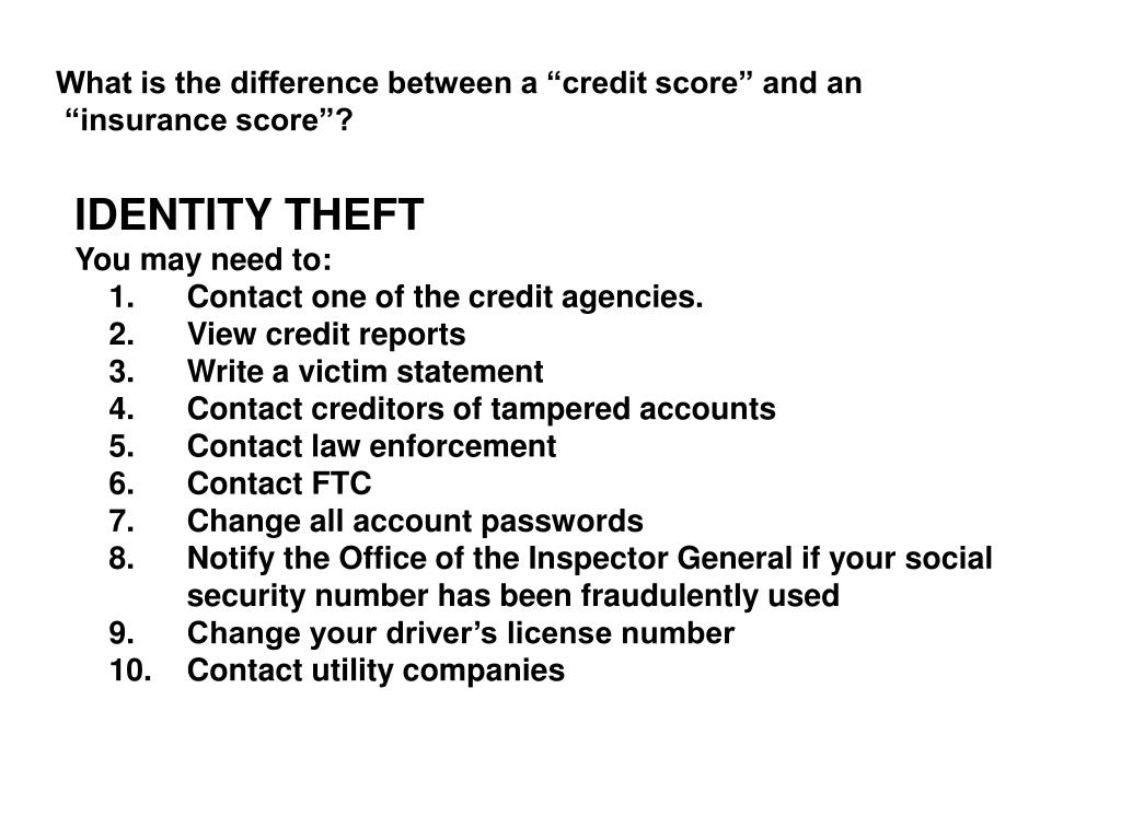 "What is the difference between a ""credit score"" and an"