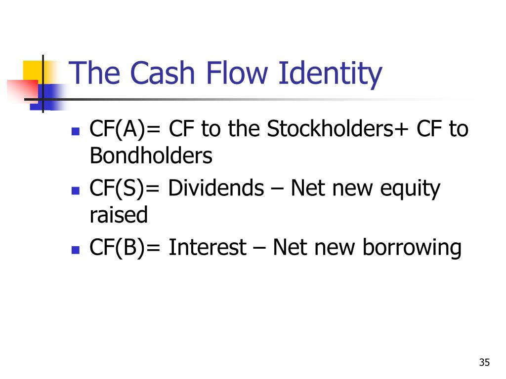 The Cash Flow Identity