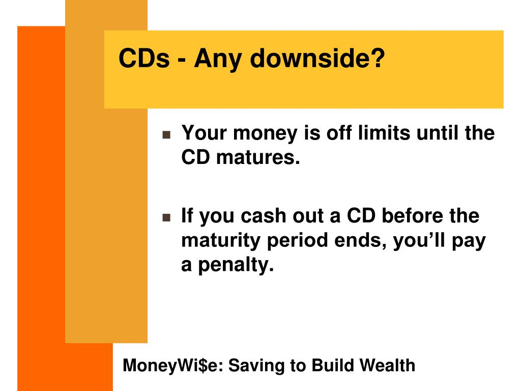 CDs - Any downside?