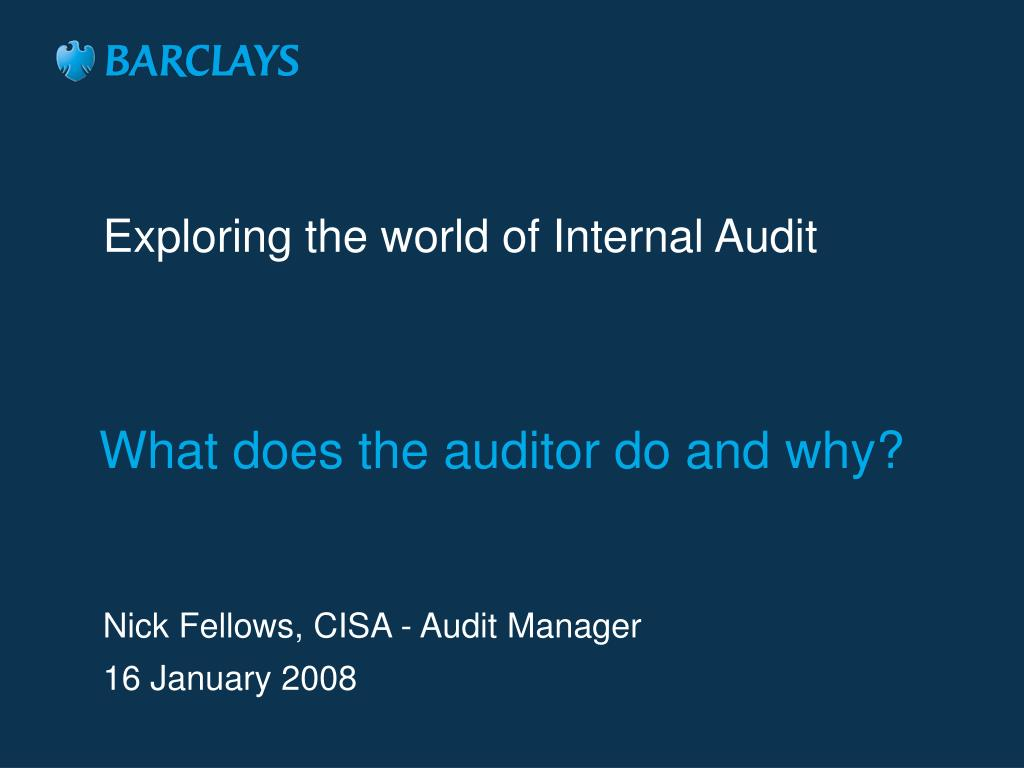 Exploring the world of Internal Audit