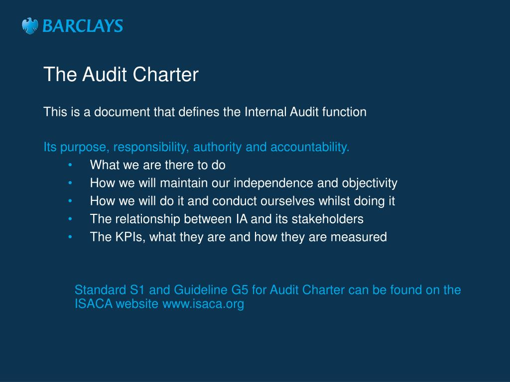 The Audit Charter