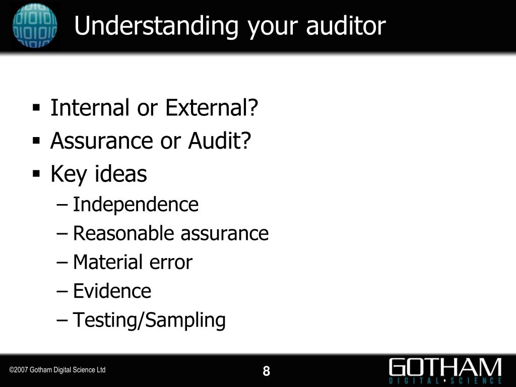 Understanding your auditor