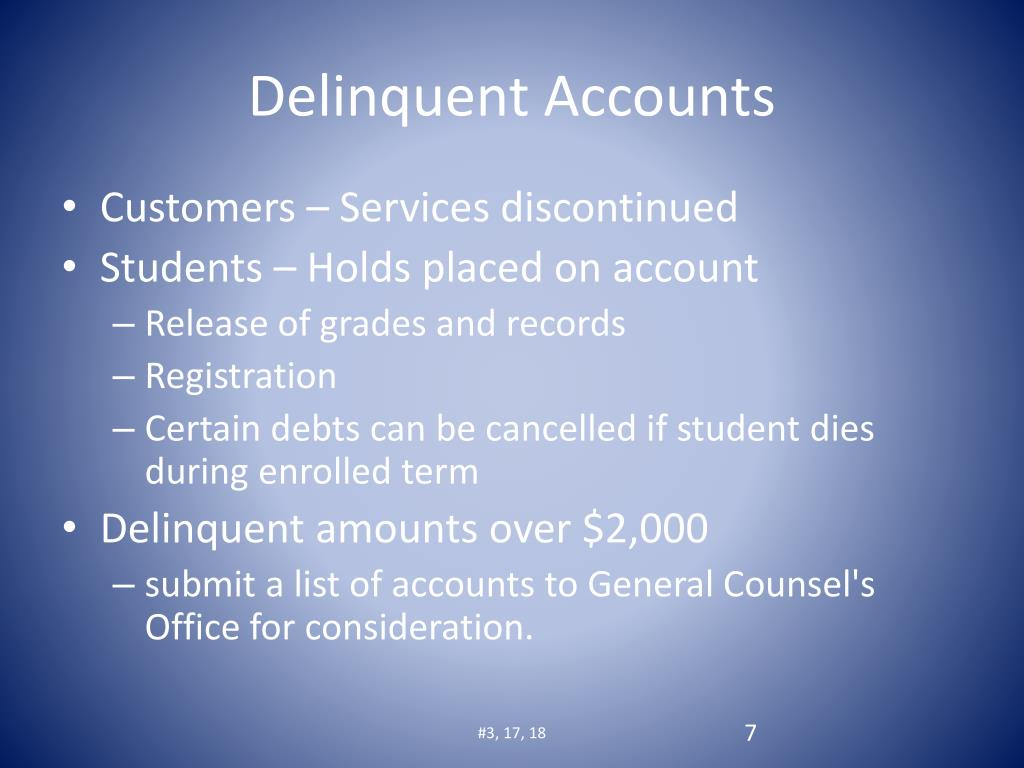 Delinquent Accounts