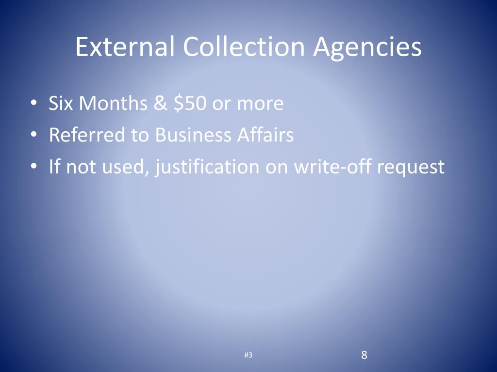 External Collection Agencies