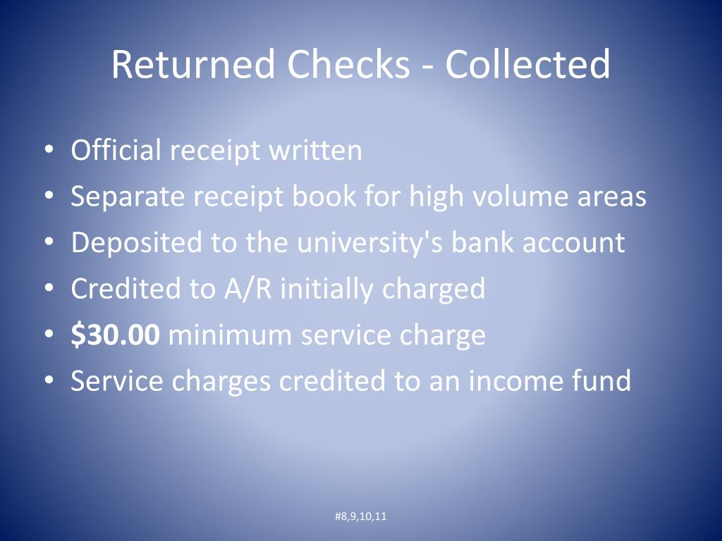 Returned Checks - Collected