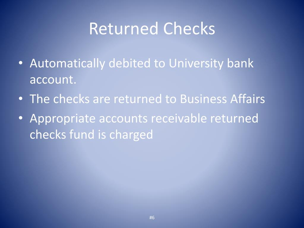 Returned Checks