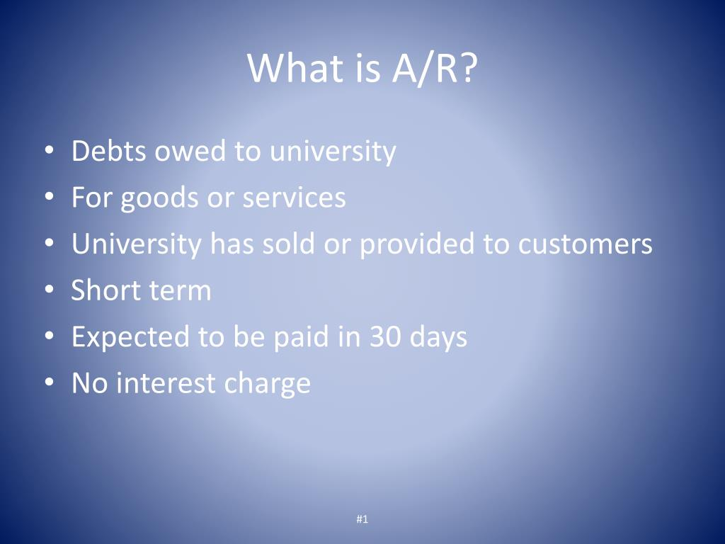 What is A/R?