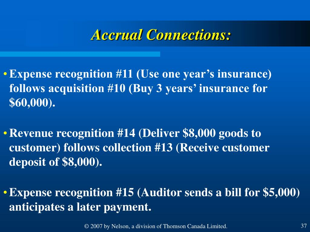 Accrual Connections: