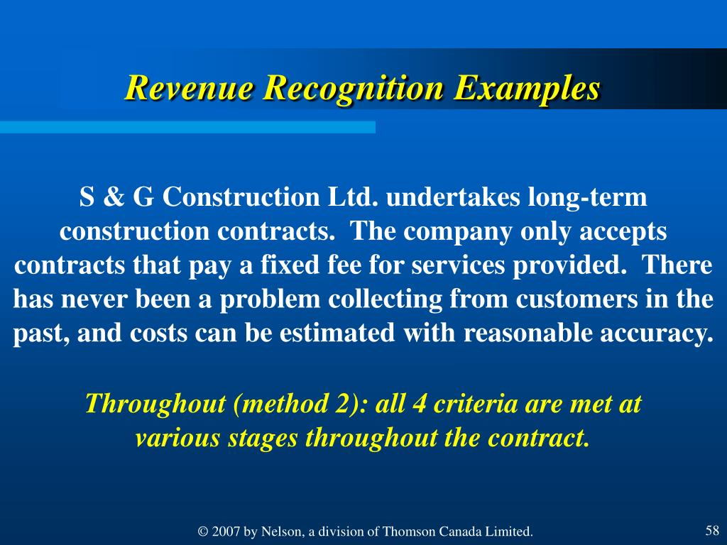 Revenue Recognition Examples