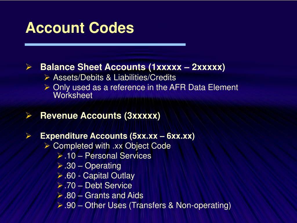 Account Codes