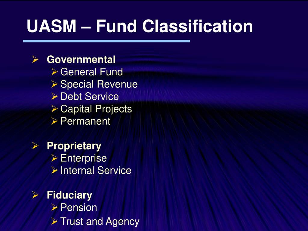 UASM – Fund Classification