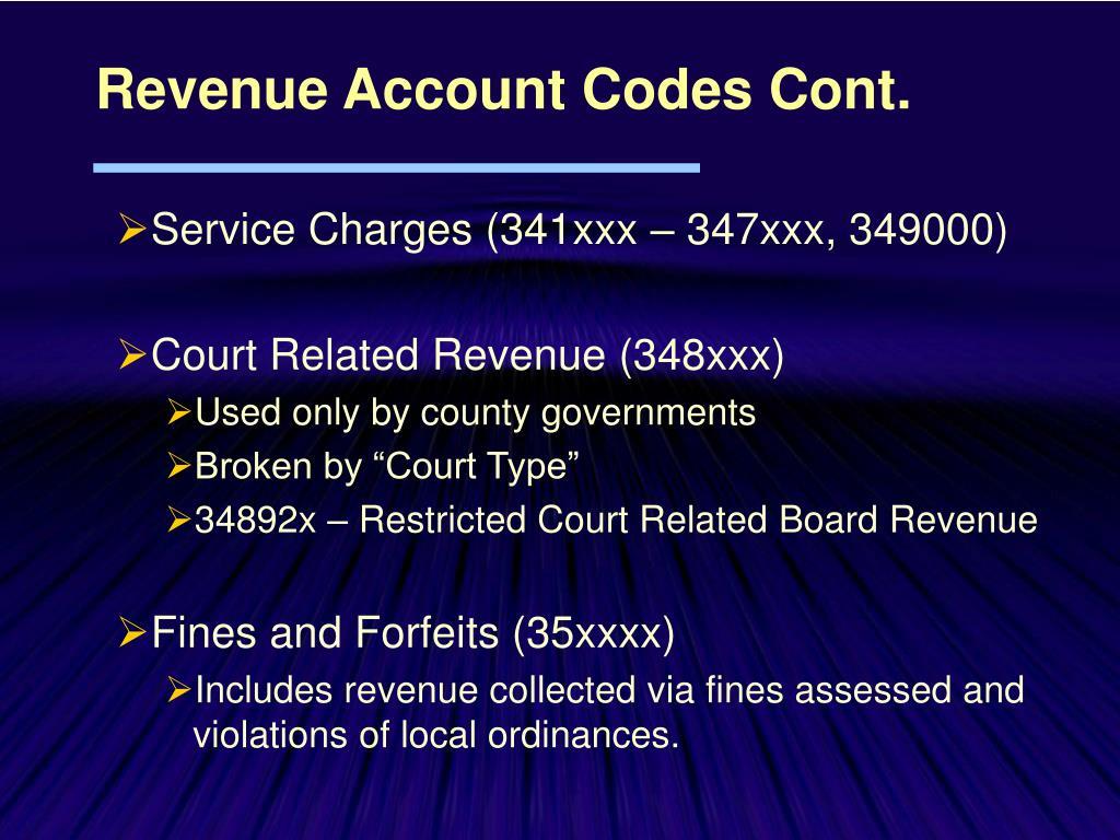 Service Charges (341xxx – 347xxx, 349000)