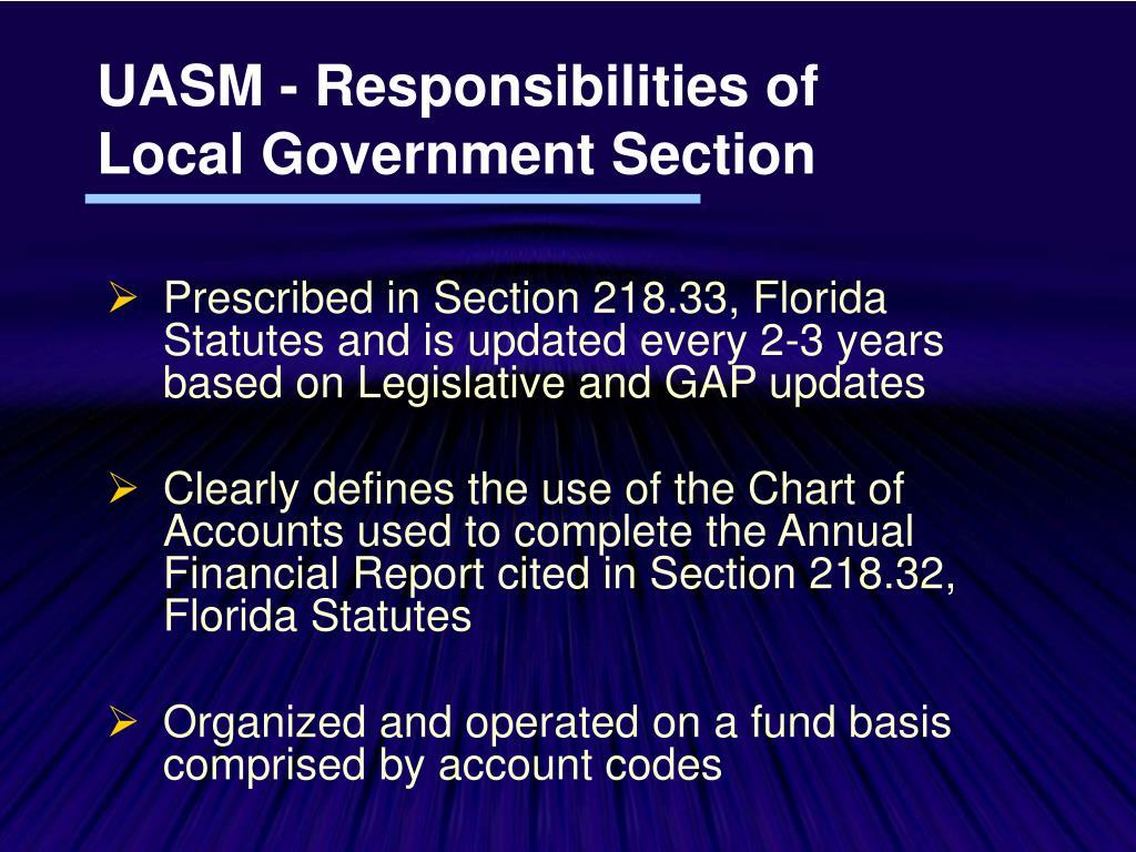UASM - Responsibilities of