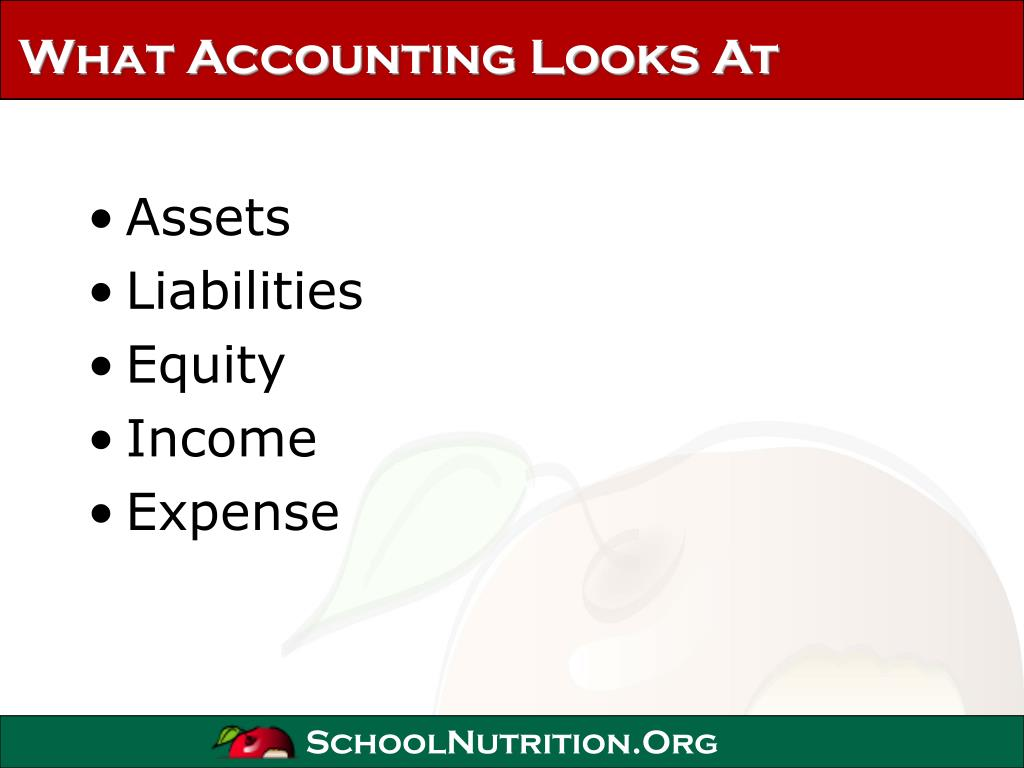 What Accounting Looks At