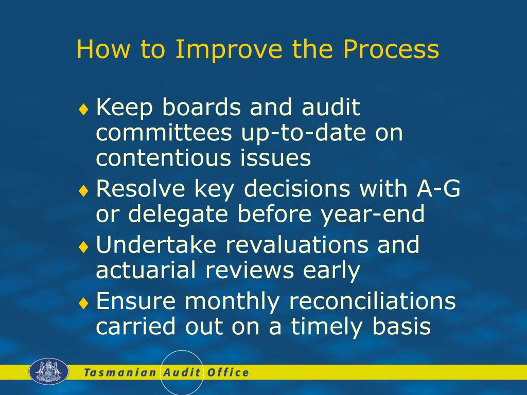 How to Improve the Process