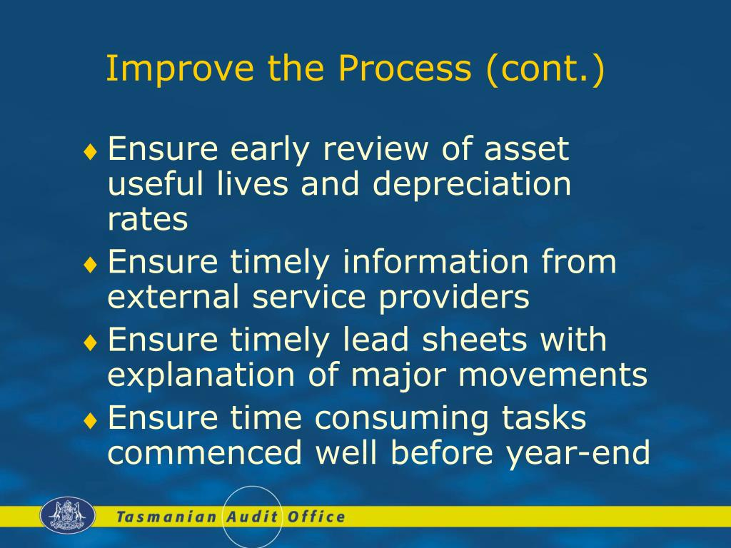 Improve the Process (cont.)