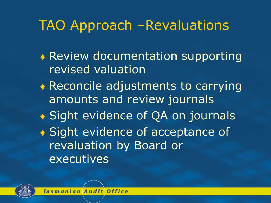 TAO Approach –Revaluations