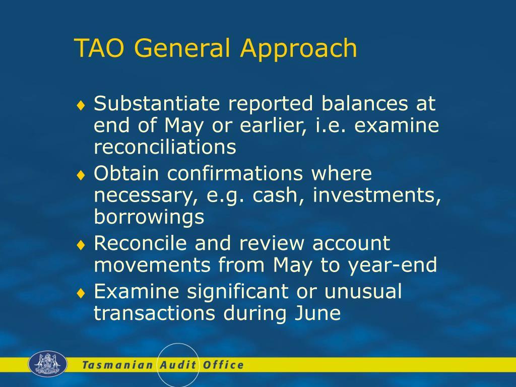 TAO General Approach