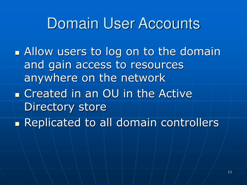 Domain User Accounts