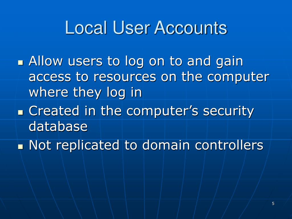 Local User Accounts
