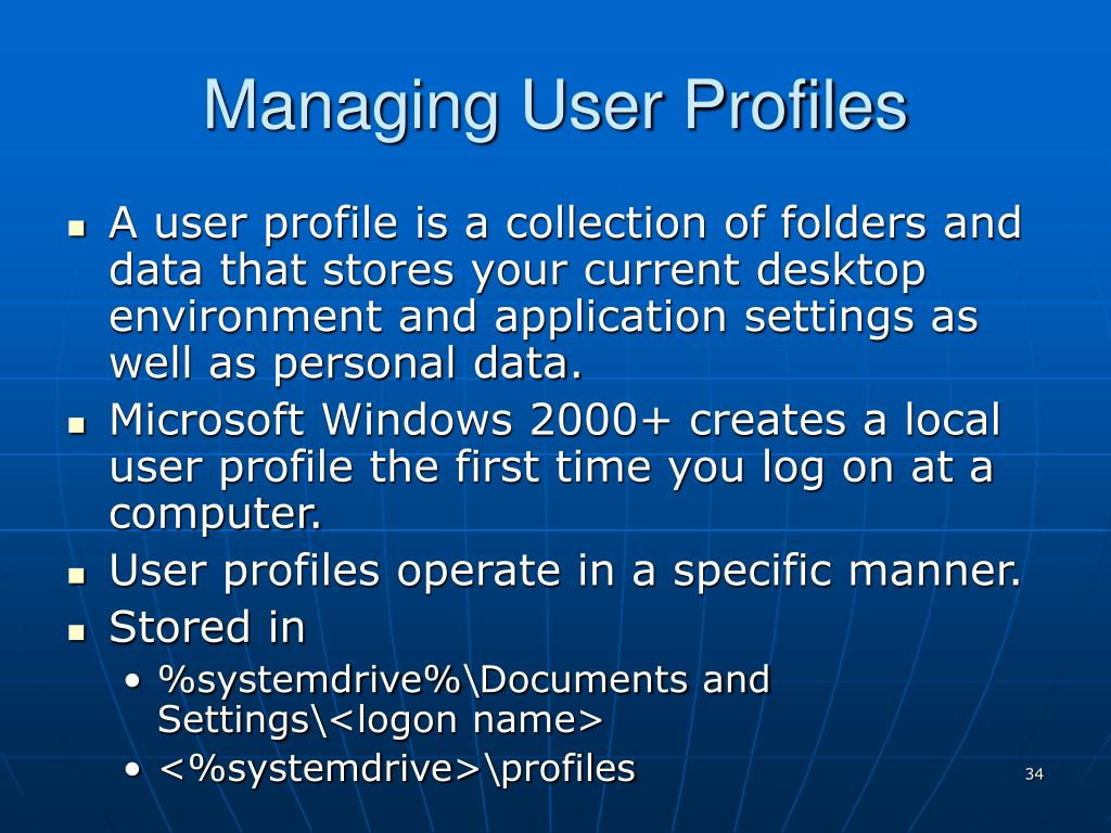 Managing User Profiles