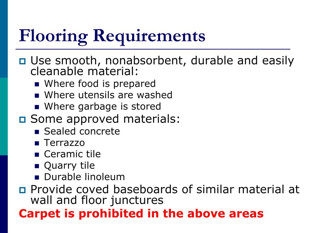 Flooring Requirements