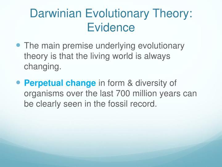 Darwinian Evolutionary Theory: Evidence