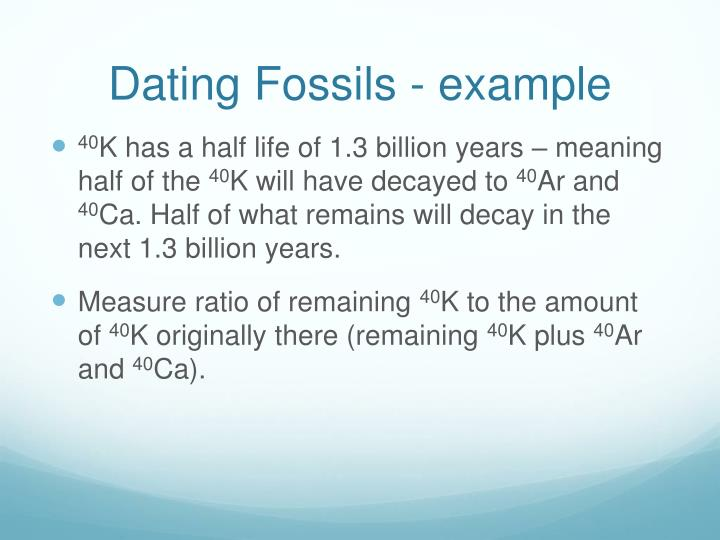 Dating Fossils - example